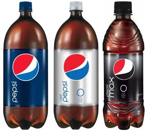 Pepsi Yeni Logolu Plastik Şişeler