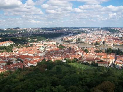 Rozhledna'dan Prag Şehir Manzarası